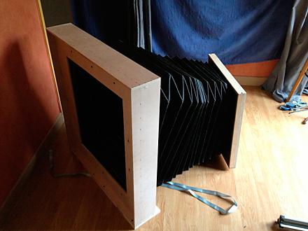 Construction d 39 une chambre collodion 50x50cm - Chevalet de chambre ...